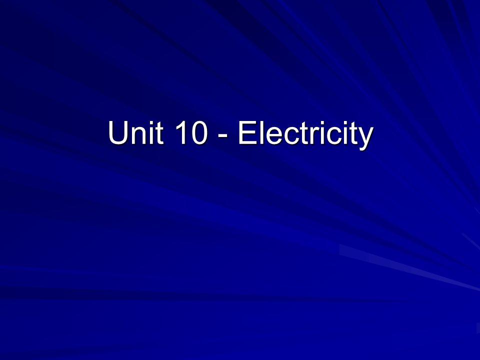 Unit 10 - Electricity