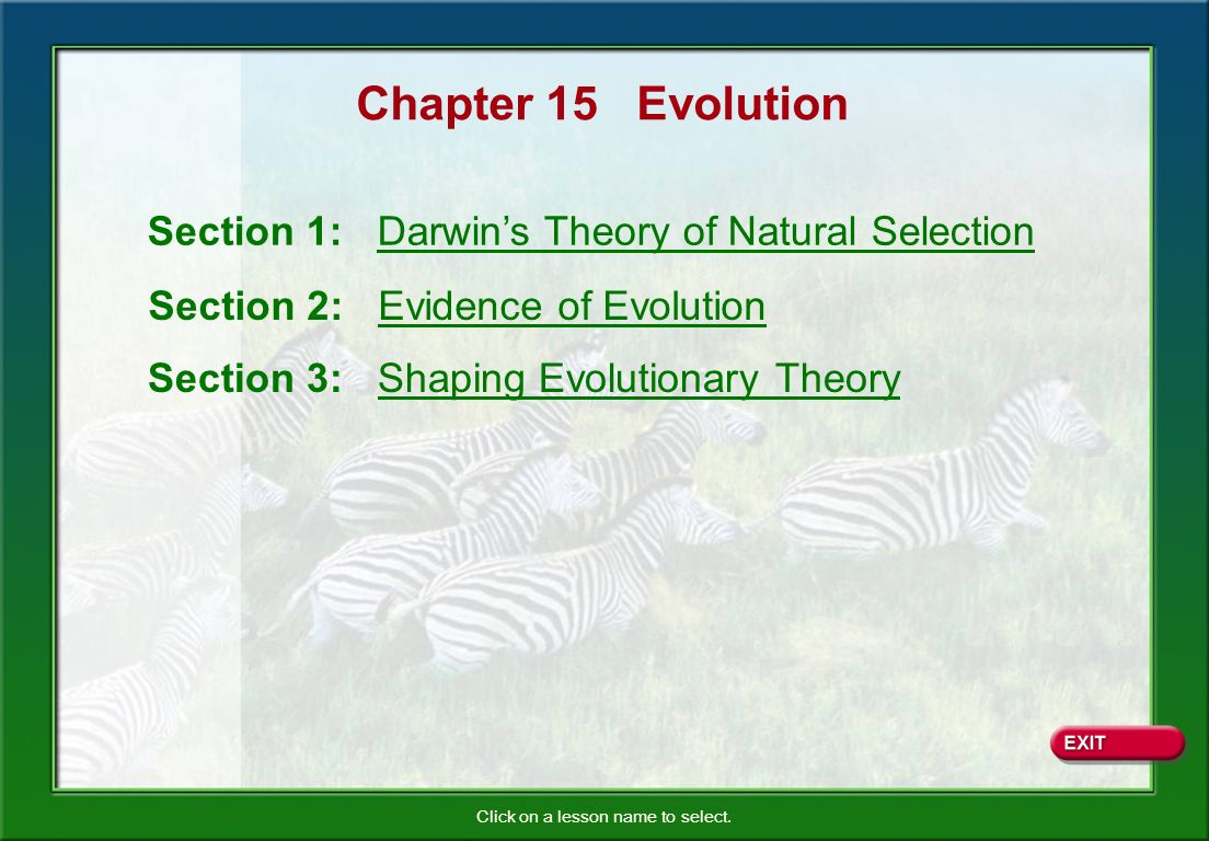 Evolution Unrelated species evolve similar traits even though they live in different parts of the world.