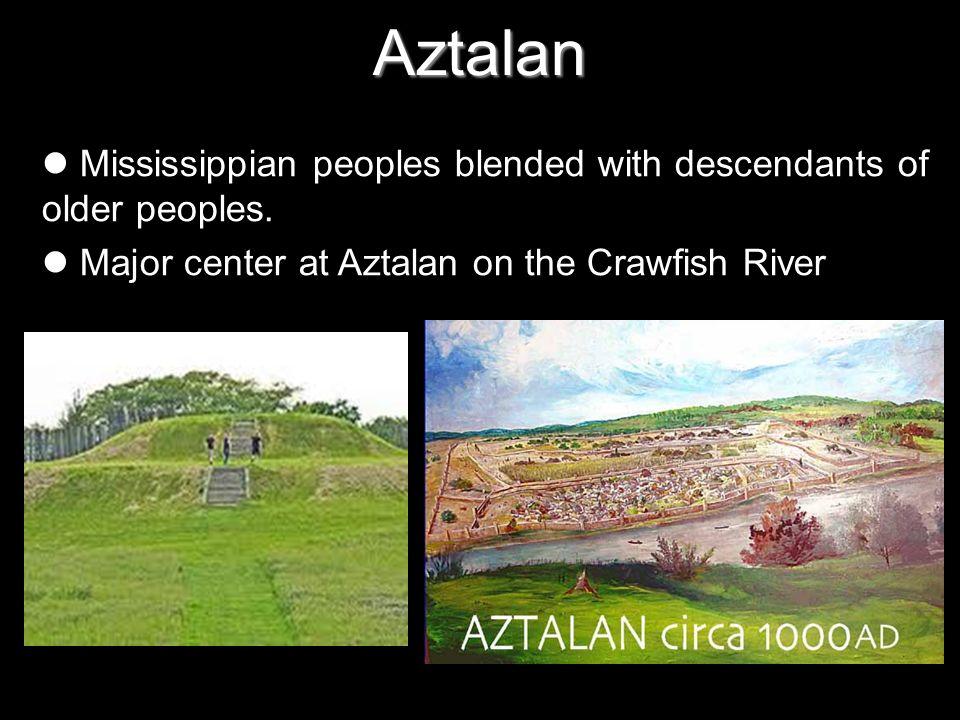 Aztalan Mississippian peoples blended with descendants of older peoples.