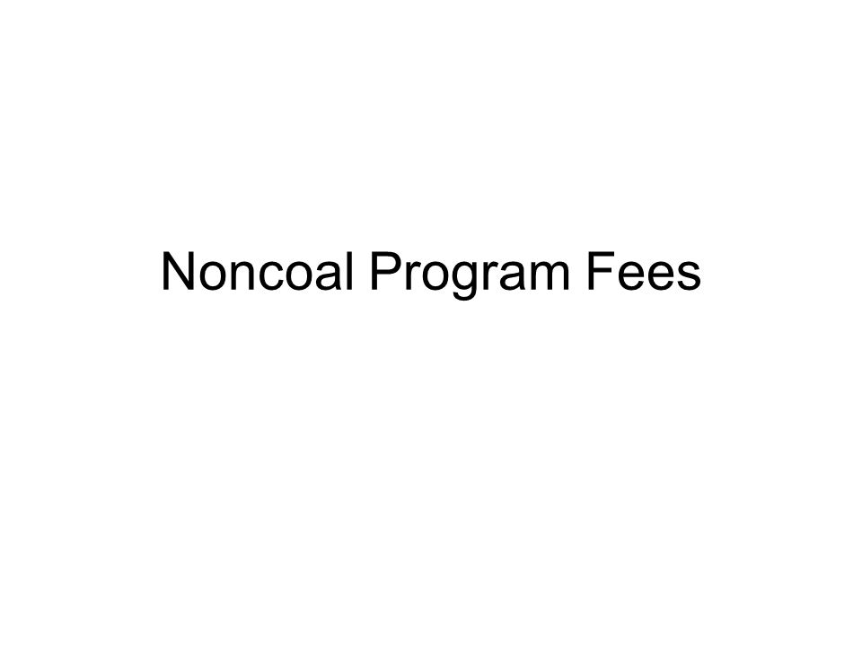 Noncoal Program Fees