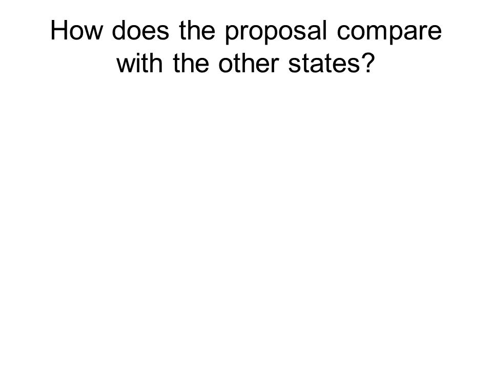 How does the proposal compare with the other states