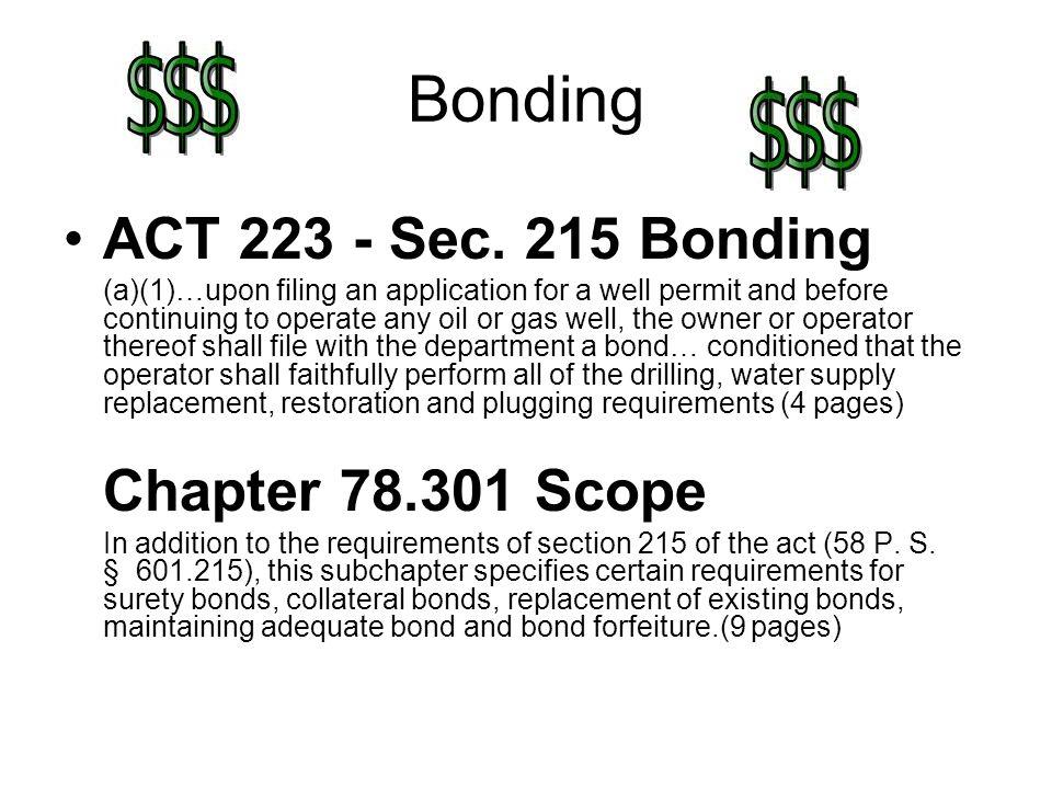 Bonding ACT 223 - Sec.