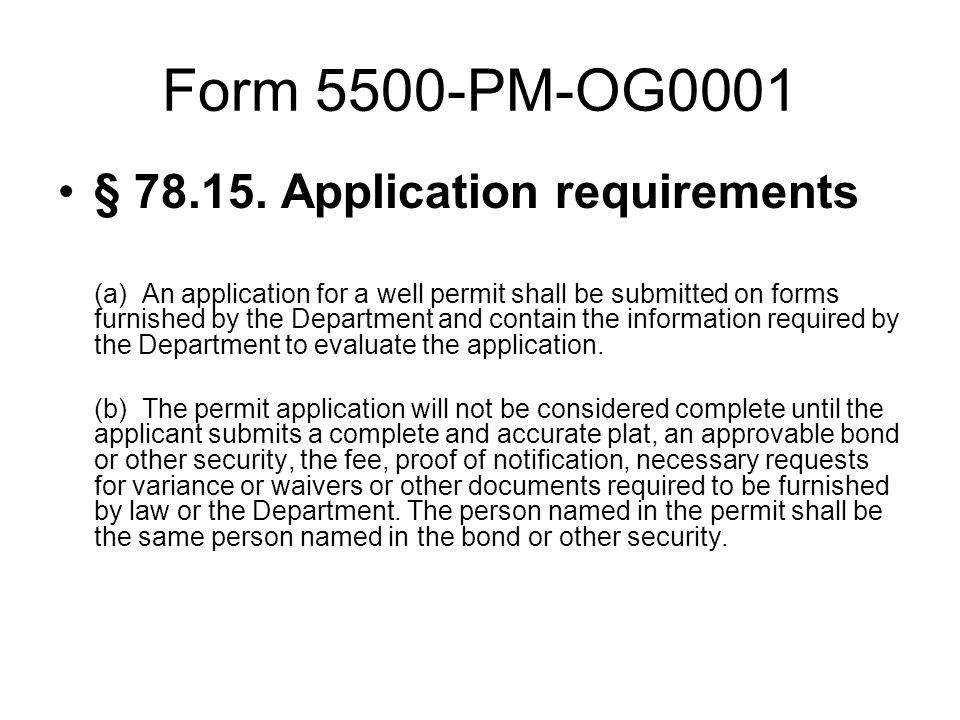 Form 5500-PM-OG0001 § 78.15.