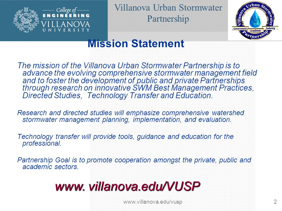 Villanova Urban Stormwater Partnership www.villanova.edu/vusp33 Flow Exposure