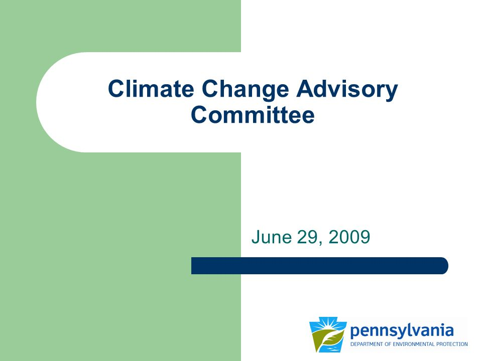 Climate Change Advisory Committee June 29, 2009