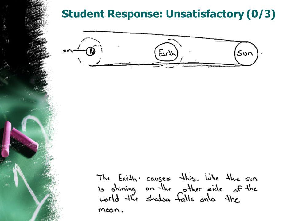 Student Response: Unsatisfactory (0/3)