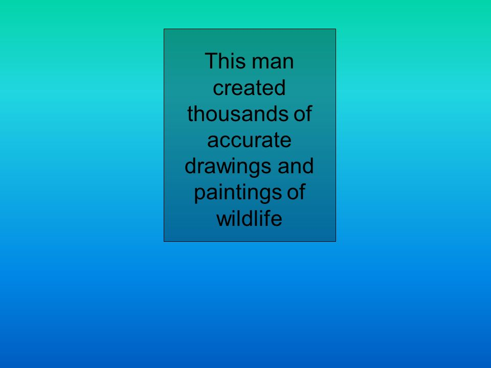 This man created thousands of accurate drawings and paintings of wildlife