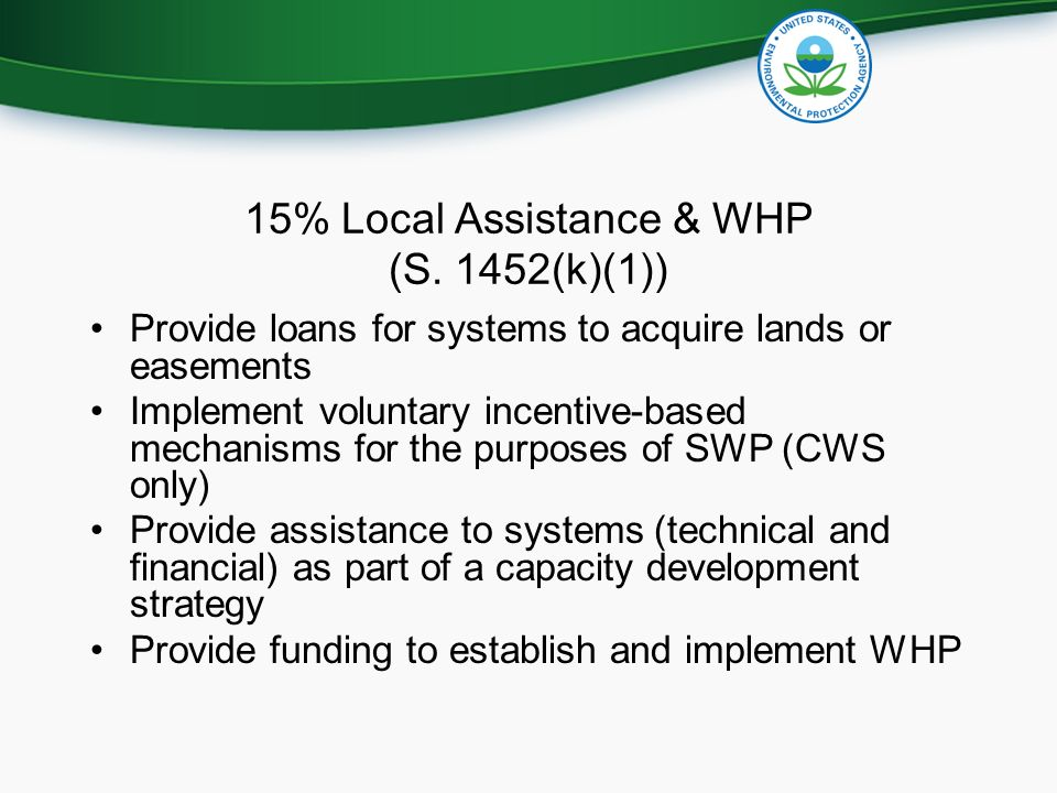 15% Local Assistance & WHP (S.
