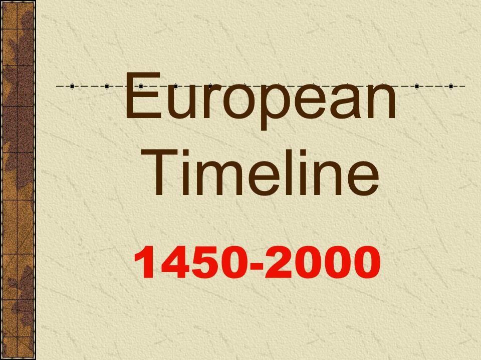 European Timeline 1450-2000