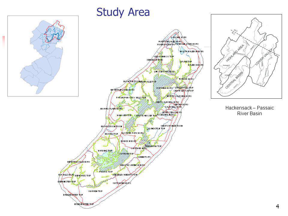 4 Study Area Hackensack – Passaic River Basin