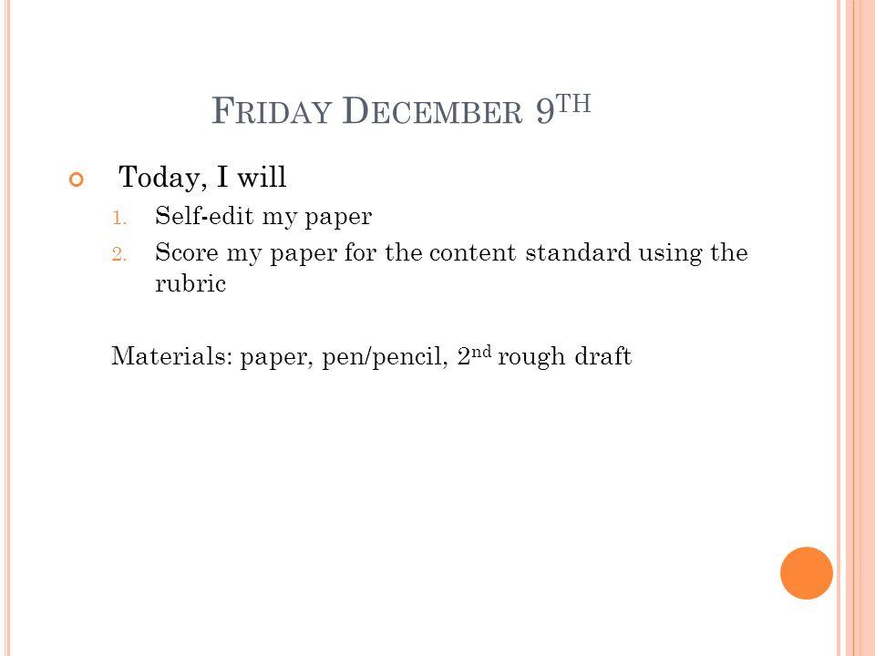 Self-EditLast, First English, pd.# 9 December 2011