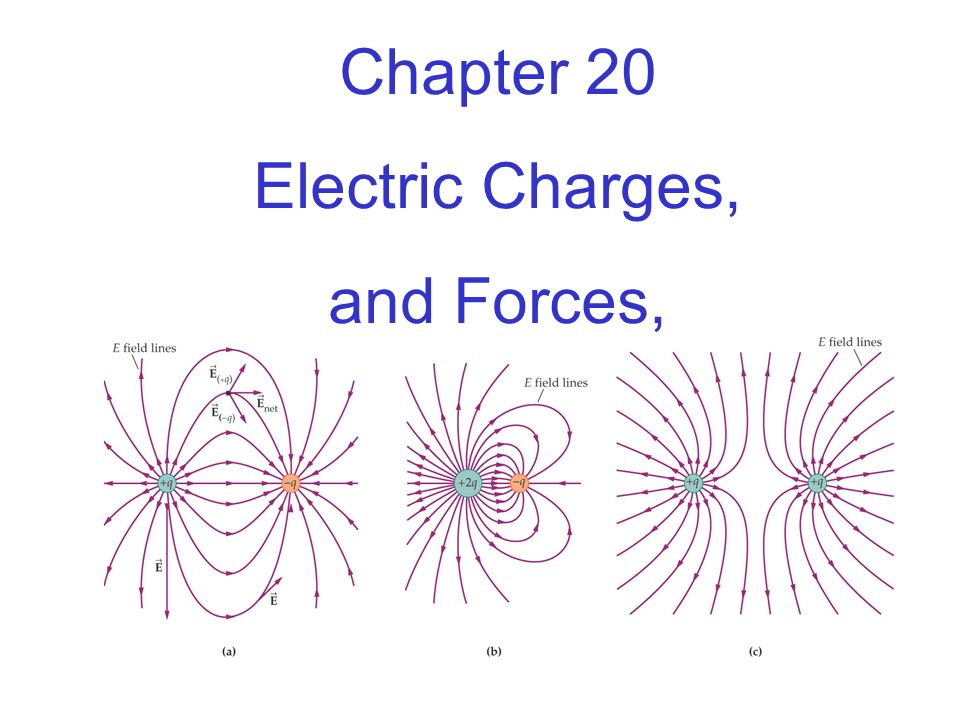 Chapter 20 Electric Charges, and Forces,