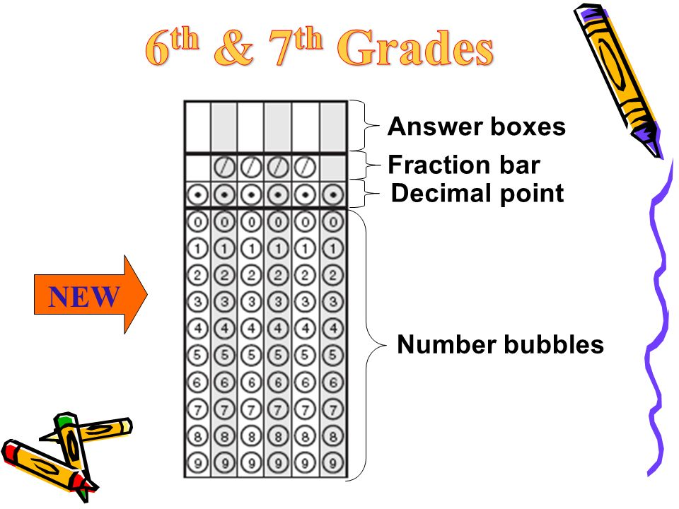 Answer boxes Fraction bar Decimal point Number bubbles NEW