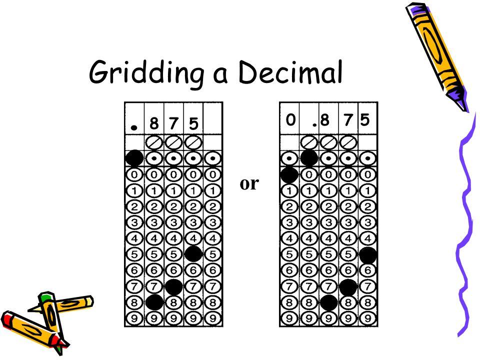 Gridding a Decimal 78. 5 0. 8 7 5 or