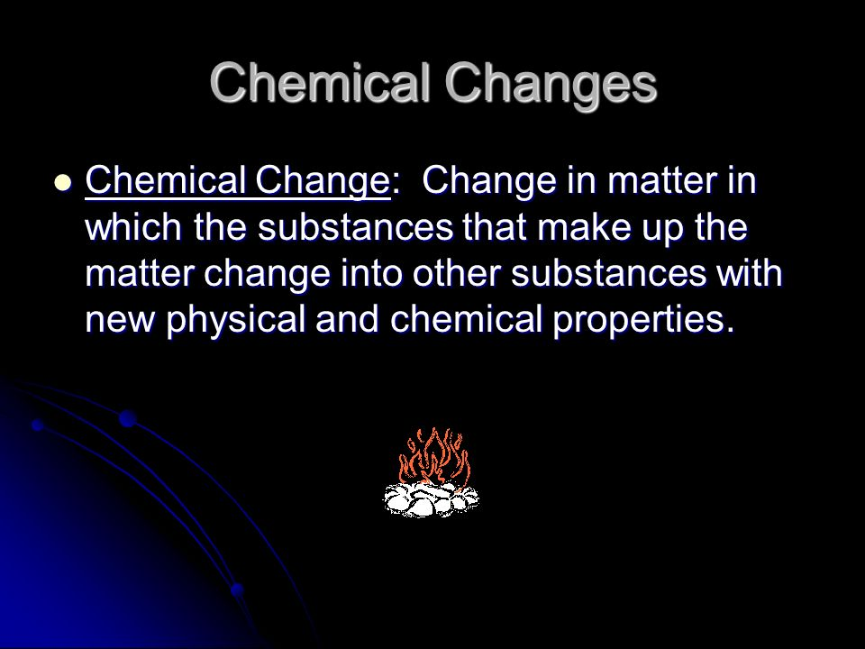 Signs of Chemical Change Formation of Bubbles Formation of Bubbles Change in Odor Change in Odor Color Change Color Change Energy Change Energy Change