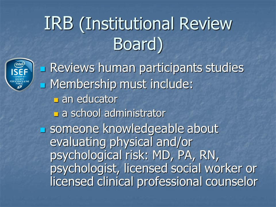 Project based on prior research in the same field of study Project based on prior research in the same field of study Longitudinal studies are permitted Longitudinal studies are permitted Multi-year study Multi-year study Studies time-based change Studies time-based change Require form 7 Require form 7 Continuation studies