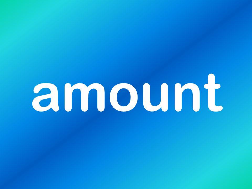 amount