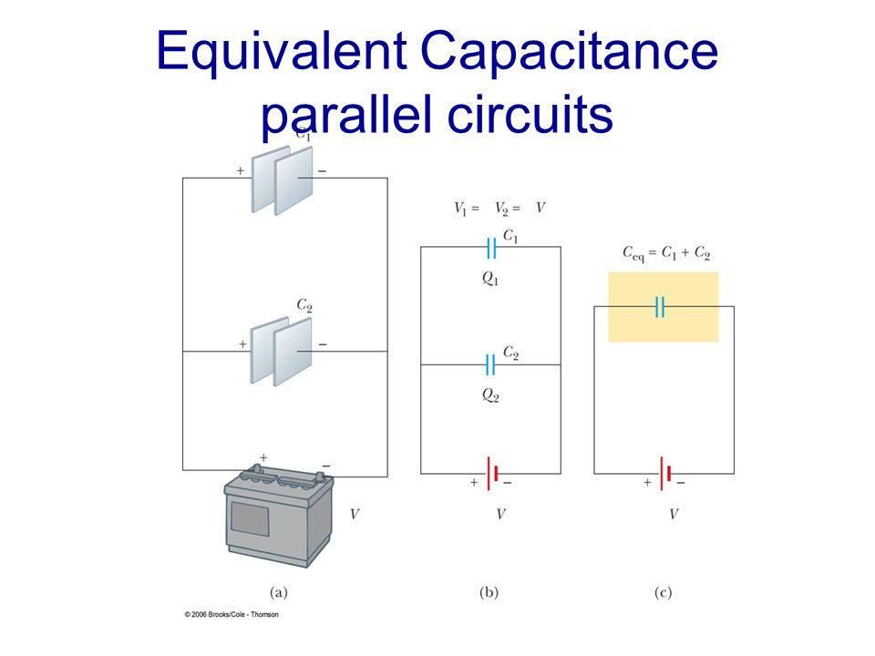 Equivalent Capacitance parallel circuits