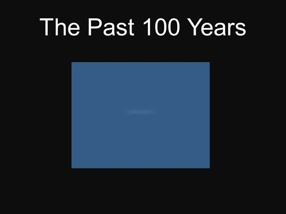 The Past 100 Years
