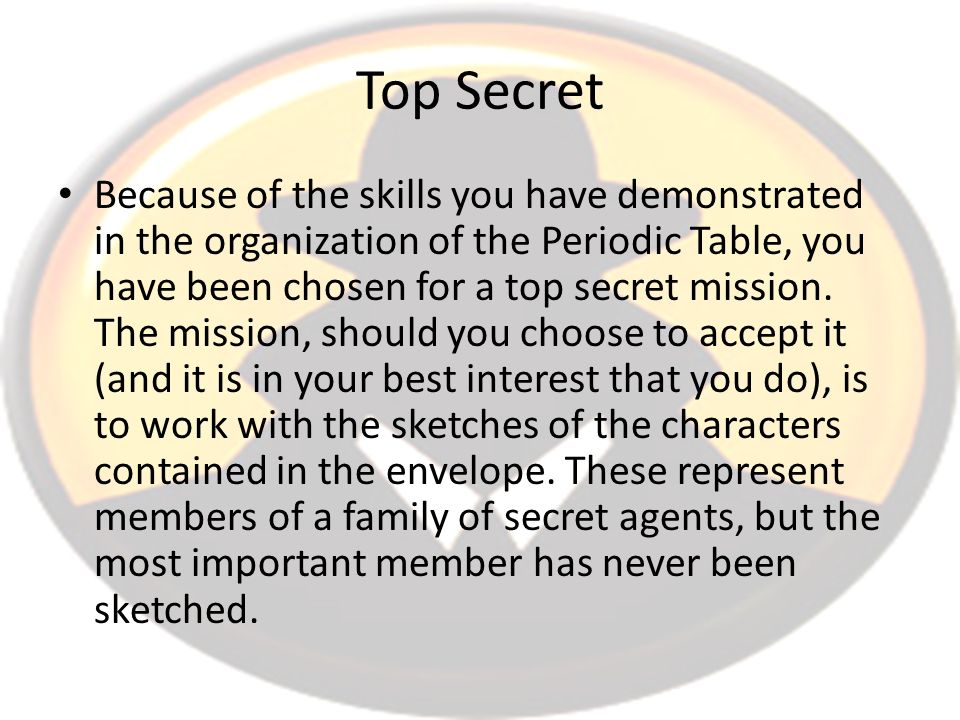 Your Task Organize the pictures and sketch the missing secret agent.