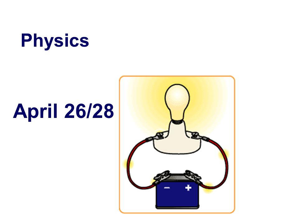 April 26/28 Physics
