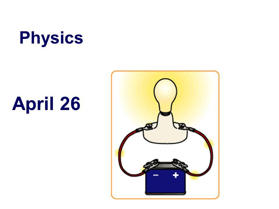 April 26 Physics