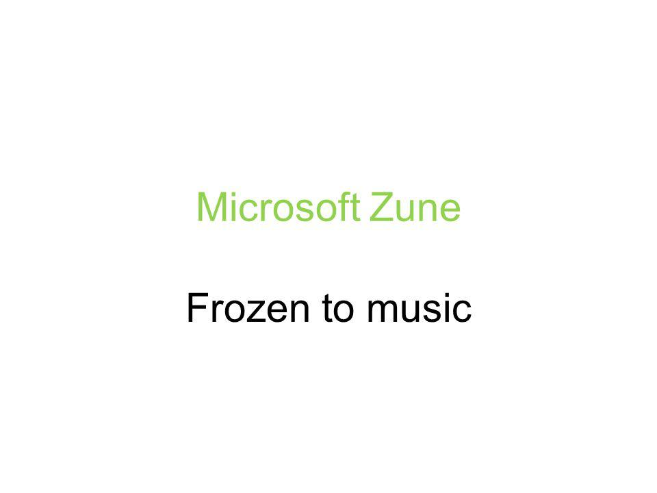 Microsoft Zune Frozen to music