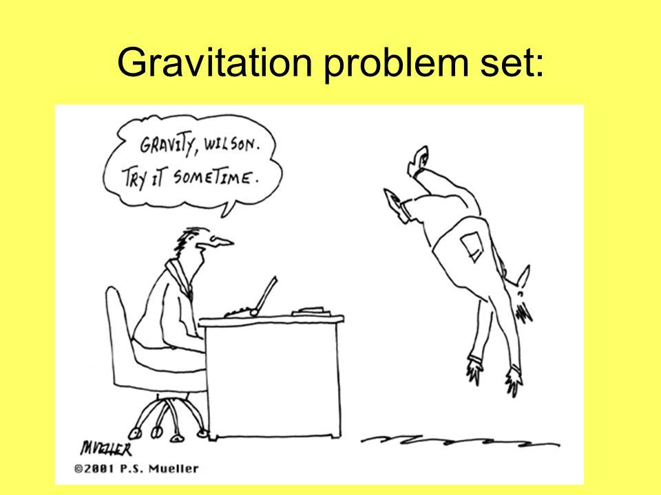 Gravitation problem set: