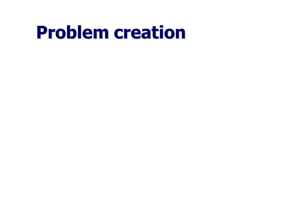 Problem creation