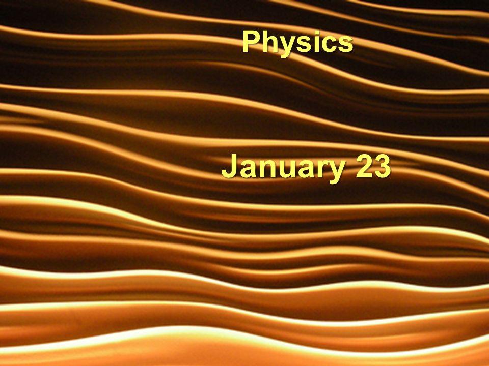 January 23 Physics