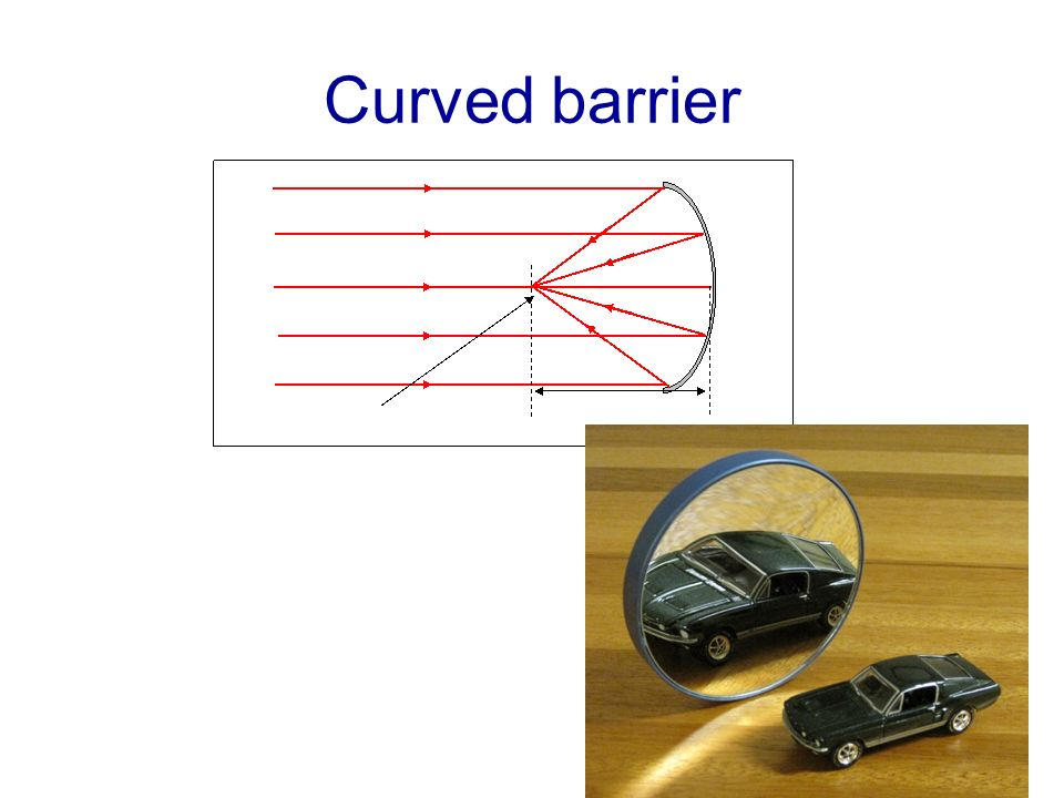 Curved barrier