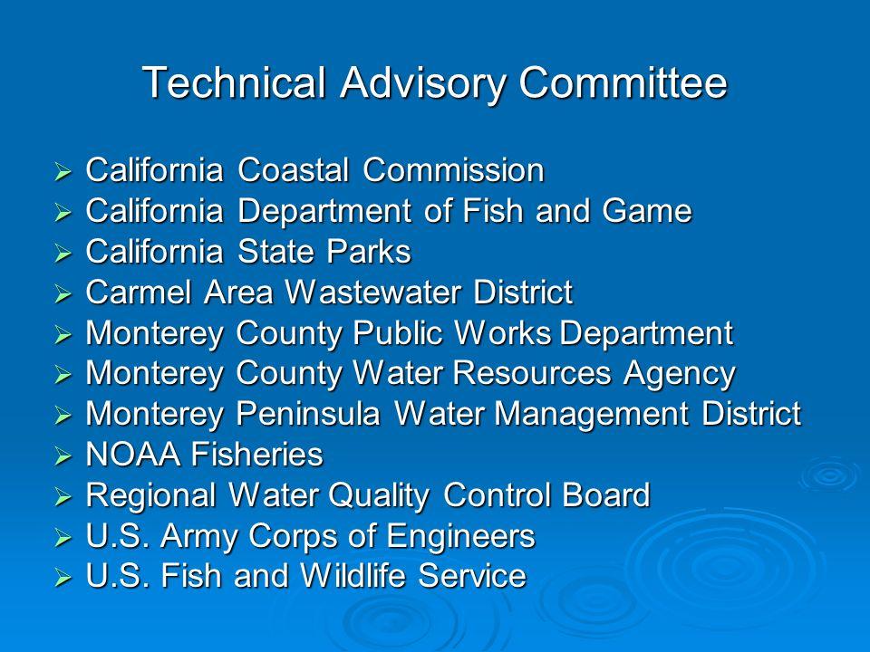Technical Advisory Committee California Coastal Commission California Coastal Commission California Department of Fish and Game California Department