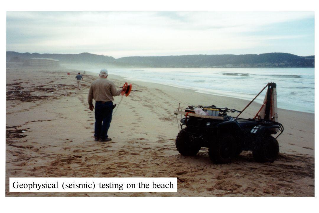 Geophysical (seismic) testing on the beach