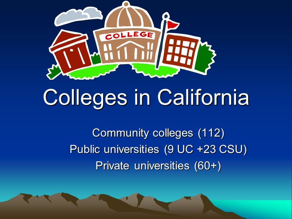 CSU/UC Admission Requirements Required Coursework (A to G) Grades of C or better SAT or ACT (Students must send test scores to colleges) GPA (A to G courses only) Activities Community Service Essays