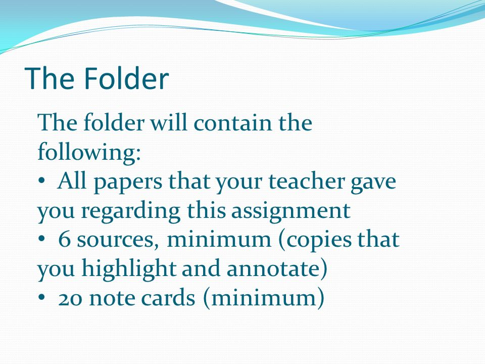 Labeling Your Folder Pockets Look at the list of questions you generated in your PROPOSAL Do two or three questions belong together.