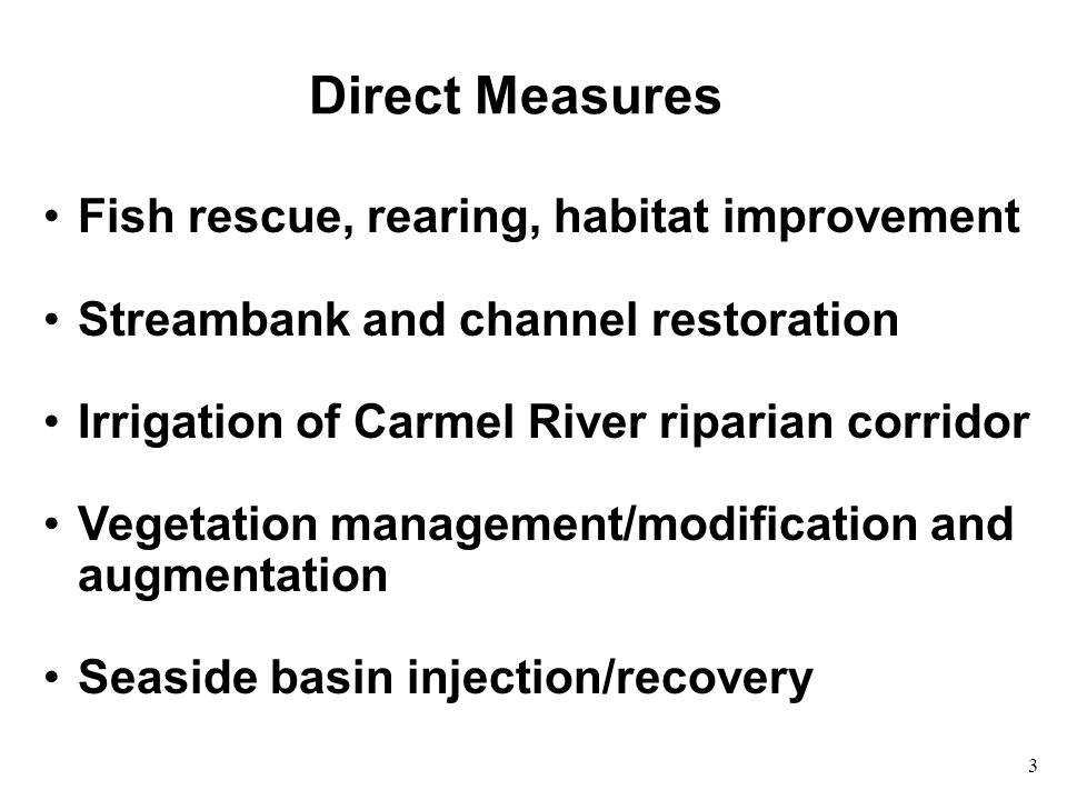 4 Indirect Measures Conservation - e.g.