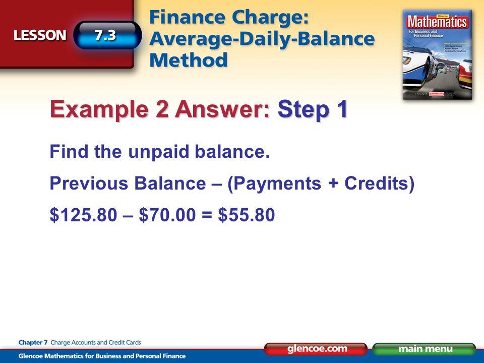 Find the unpaid balance.