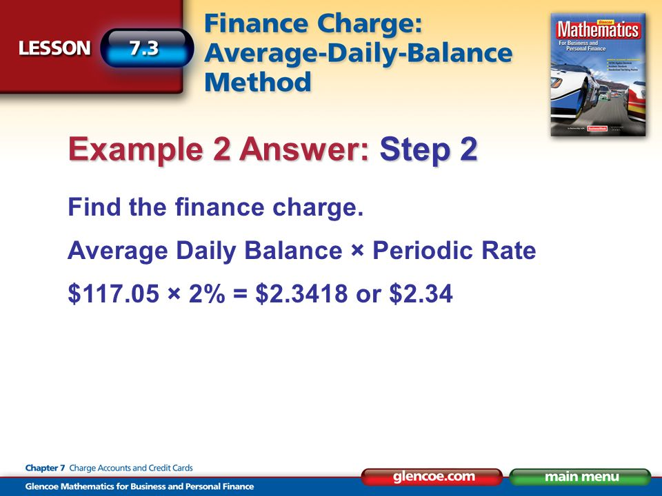 Find the finance charge.