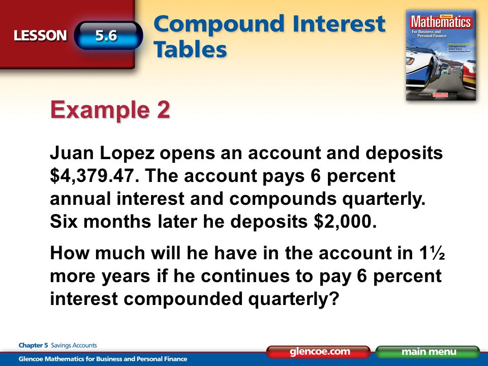 Juan Lopez opens an account and deposits $4,