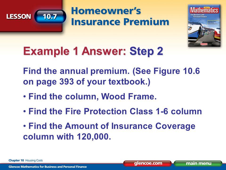 Find the annual premium.