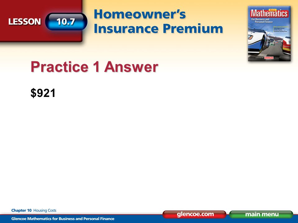 $921 Practice 1 Answer