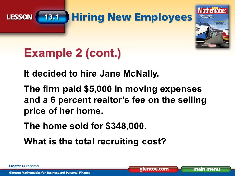 It decided to hire Jane McNally.