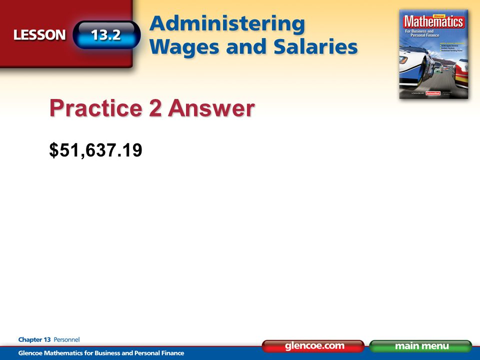 $51,637.19 Practice 2 Answer