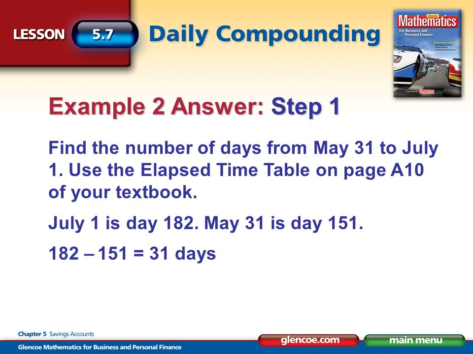 Find the number of days from May 31 to July 1.
