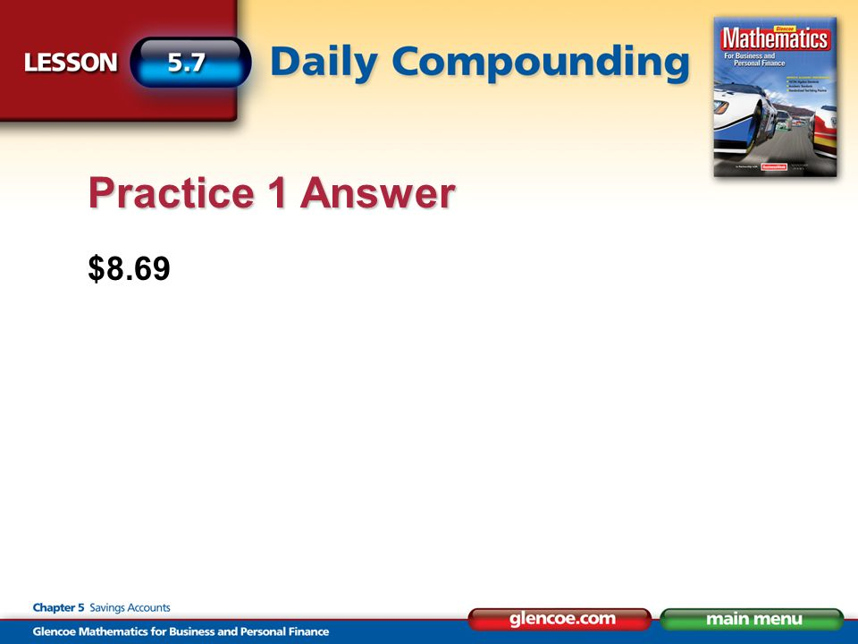 $8.69 Practice 1 Answer