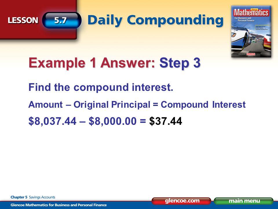Find the compound interest.