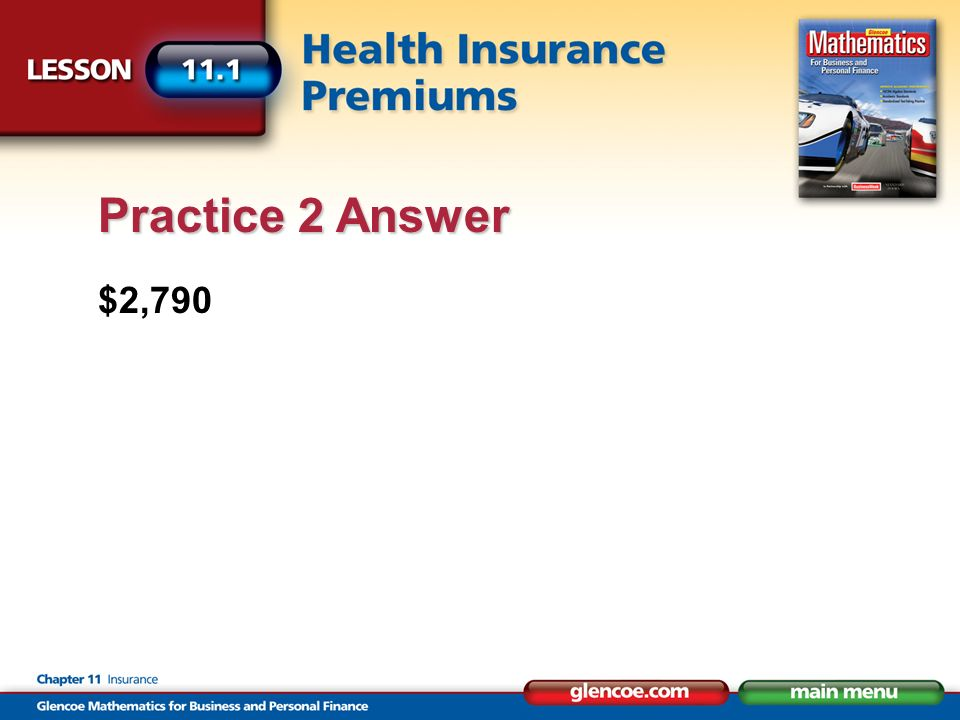 $2,790 Practice 2 Answer