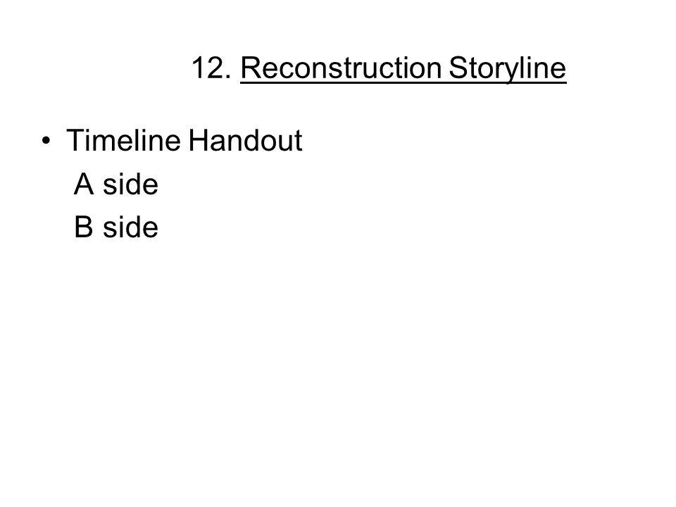 12. Reconstruction Storyline Timeline Handout A side B side