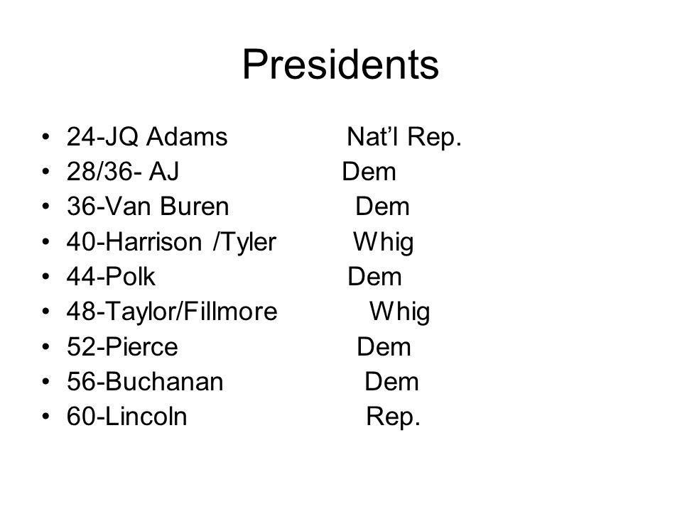 Presidents 24-JQ Adams Natl Rep.