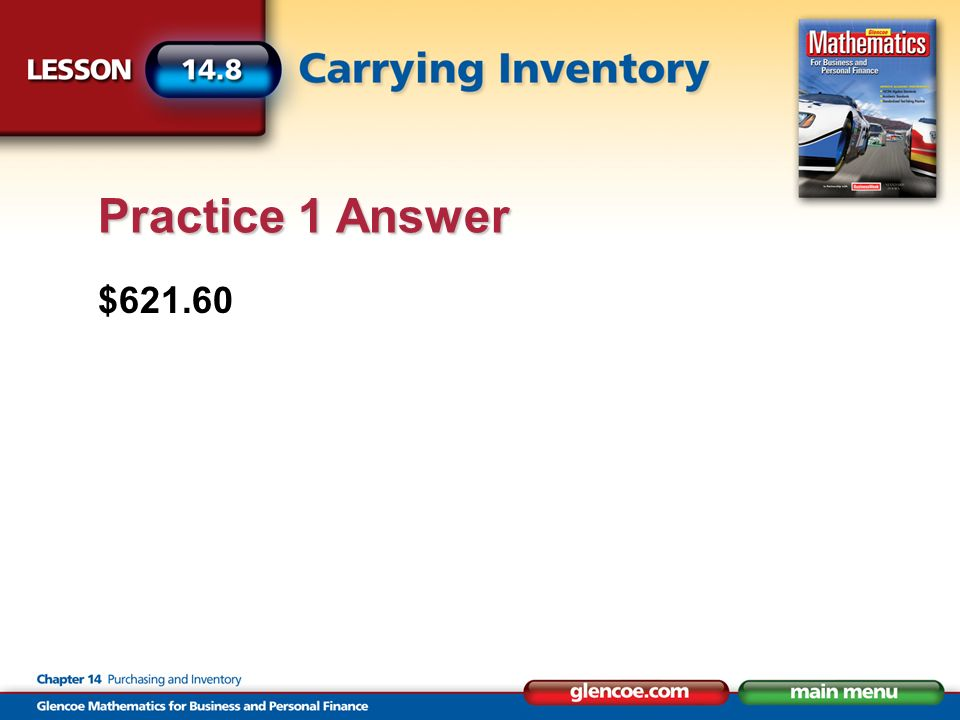 $621.60 Practice 1 Answer